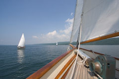 Sailing in scooner Stock Photography