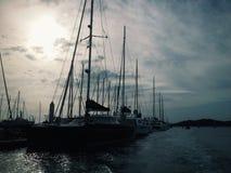 Sailing at the sea Stock Photos