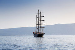 Sailing in the sea. Sailing ship in the sea Royalty Free Stock Photos