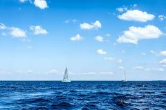 Sailing on sea Stock Photo
