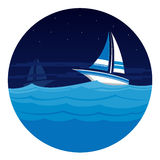 Sailing in the Sea Royalty Free Stock Photos
