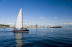 Sailing in Seattle Royalty Free Stock Images