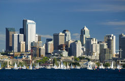 Sailing in Seattle Royalty Free Stock Photos