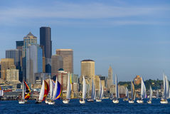 Sailing in Seattle Royalty Free Stock Photo