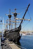 Sailing ship 1. Sailing ship in the port of Barcelona, now a museum Royalty Free Stock Photos