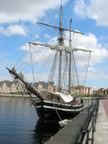 Sailing ship. Moored in the harbour Royalty Free Stock Photography