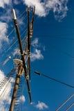 Sailing ship. Masts over the blue sky Royalty Free Stock Photos