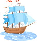 Sailing Ship. Vector Illustration of a sailing ship Royalty Free Stock Image