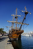 Sailing ship 2. Sailing ship in the port of Barcelona, now a museum Royalty Free Stock Image