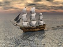 Sailing Ship 2 royalty free illustration