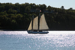 Sailing ship. Cruise ship on Lake Michigan , Door County Stock Photography