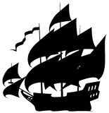 Sailing ship royalty free illustration