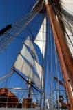Sailing ship. Sails and rigging on sailing ship Royalty Free Stock Photos