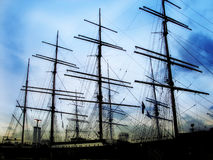 Sailing ship. Photo of a sailing ship stock photos