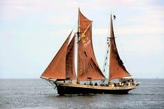 Sailing-ship-6. Sailing-ship on baltic.Rally of sailing-ships Royalty Free Stock Photos