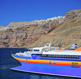 Sailing ship in the Aegean Sea stock photography