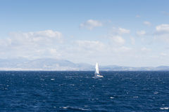 Sailing ship in the Aegean sea Royalty Free Stock Images