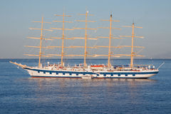 Sailing Ship At Anchor Stock Photo