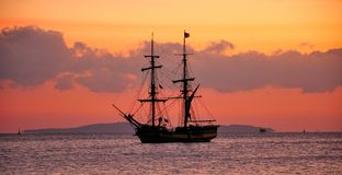 Sailing ship at anchor Royalty Free Stock Images
