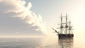 Sailing ship at anchor Royalty Free Stock Photo