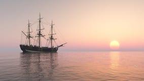Sailing ship at anchor Royalty Free Stock Images