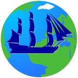 Sailing ship-11 Royalty Free Stock Image