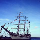 Sailing ship - Aruba Royalty Free Stock Image