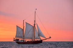 Sailing ship on the Baltic Sea Stock Photos