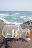 Sailing Ship in the Bottle Stock Photos