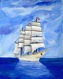 Sailing Ship, Caravel, Barque, Full Rigged Ship Stock Images
