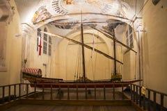Sailing ship in the church of Saint John of Pre in Genoa, Liguria, Italy, Europe Stock Image