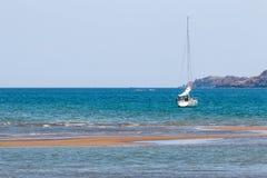 Sailing ship. Comodo island flores Royalty Free Stock Images