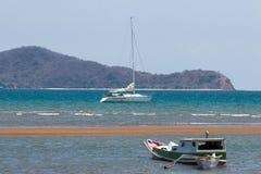 Sailing ship. Comodo island flores Stock Images