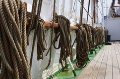 Sailing Ship. Cordage on a sailing ship Royalty Free Stock Images