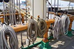 Sailing Ship. Cordage on a sailing ship Stock Photography