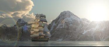 The sailing ship Stock Photos