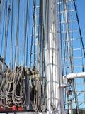 Sailing ship details Stock Photos