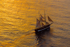 Sailing ship in the evening Stock Photography