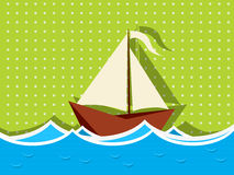 Sailing ship graphic Royalty Free Stock Photography
