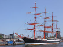 Sailing ship in Hamburg Royalty Free Stock Images