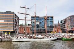 Sailing ship in Hamburg Royalty Free Stock Photos