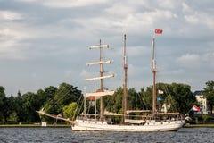 Sailing ship on the Hanseatic Sail Royalty Free Stock Photos