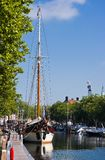 Sailing ship in harbour Stock Photography