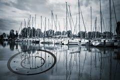 Sailing ship harbour Stock Photos