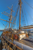 Sailing ship in Hobart Harbour Royalty Free Stock Photo