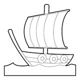 Sailing ship icon , outline style Stock Image