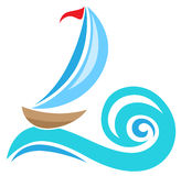 Sailing ship icon Royalty Free Stock Photos