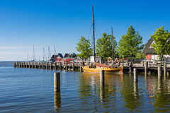 Sailing Ship In The Port Of Ahrenshoop, Germany Stock Photo