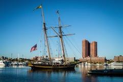 Sailing Ship Inner Harbor Stock Photography