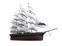 Sailing ship isolated over white Stock Images